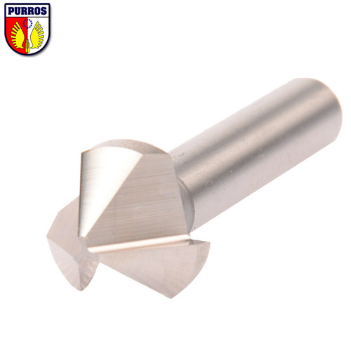 3 Flute Countersinks, 6mm Head Diameter, 60 Degree Included Angle